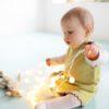 Äffchen Kleid für Mädchen_Grüne Baby Tunika_Pima Biobaumwolle