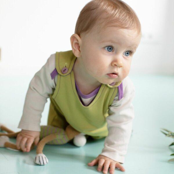 Baby-Kleid für Mädchen_mitwachsend_grün_Pima Cotton