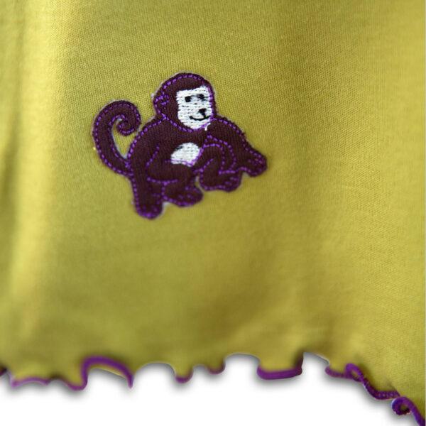 Chill n Feel - Baby Kleid u. Tunika Affe aus weicher Pima Cotton kbA Grün Pflaume (1)
