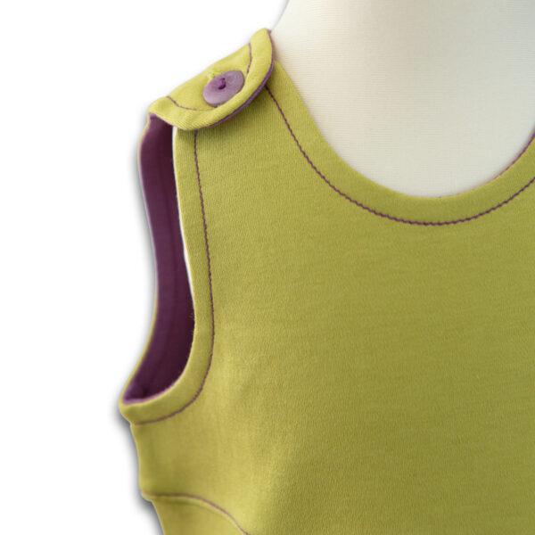 Chill n Feel - Baby Kleid u. Tunika Affe aus weicher Pima Cotton kbA Grün Pflaume (2)