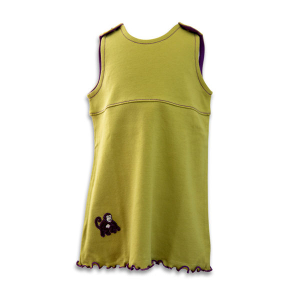 Chill n Feel - Baby Kleid u. Tunika Affe aus weicher Pima Cotton kbA Grün Pflaume (4)