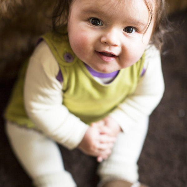 Chill n Feel - Baby Kleid u. Tunika Affe aus weicher Pima Cotton kbA Grün Pflaume (5)