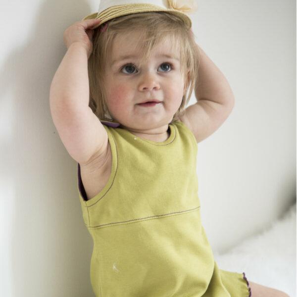 Chill n Feel - Baby Kleid u. Tunika Affe aus weicher Pima Cotton kbA Grün Pflaume (9)