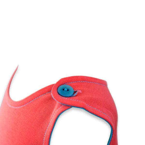 Chill n Feel - Baby Kleid u. Tunika Kolibri aus weicher Pima Cotton kbA Korall Türkis (1)