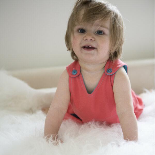 Chill n Feel - Baby Kleid u. Tunika Kolibri aus weicher Pima Cotton kbA Korall Türkis (10)