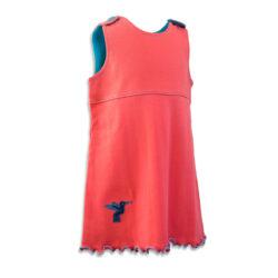 Chill n Feel - Baby Kleid u. Tunika Kolibri aus weicher Pima Cotton kbA Korall Türkis (3)