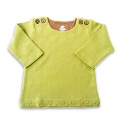 Chill n Feel - Baby-Pullover Inka aus Bio-Pima-Baumwolle Grün Braun (2)