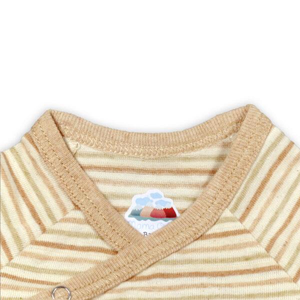 Chill n Feel - Kurzarm-Kimono Baby Body aus Pima Bio-Baumwolle Gestreift (3)