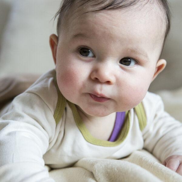 Chill n Feel - Langarm Baby-Schlupfhemd aus Bio Pima-Cotton Beige Anis-Grün (1)