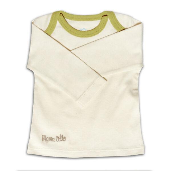 Chill n Feel - Langarm Baby-Schlupfhemd aus Bio Pima-Cotton Beige Anis-Grün (4)