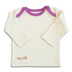 Chill n Feel - Langarm Baby-Schlupfhemd aus Bio Pima-Cotton Beige Pflaume (2)