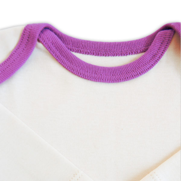Chill n Feel - Langarm Baby-Schlupfhemd aus Bio Pima-Cotton Beige Pflaume (3)