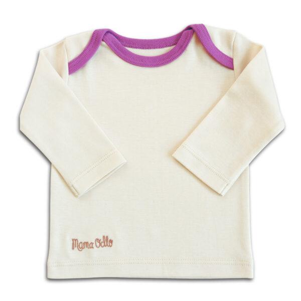 Chill n Feel - Langarm Bio Baby Shirt aus Pima Baumwolle in Lila (2)