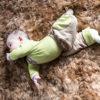 """Chill n Feel - Mitwachsende Baby-Hose """"Papagei"""" aus Bio-Pima Braun Grün (6)"""