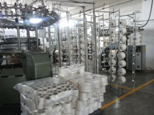 Rohstoff Baumwolle Moderner Webstuhl Peru