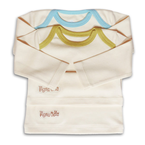 Chill n Feel - Langarm Babyshirt 2er-Set in eisblau lila grün (4)
