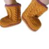Chill n Feel - Handgestrickte Baby Boots aus 100% Baby Alpaka Orange Orchidee (1)
