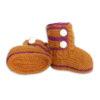Chill n Feel - Handgestrickte Baby Boots aus 100% Baby Alpaka Orange Orchidee (2)