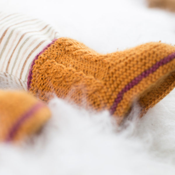 Chill n Feel - Baby Stricksocken in Orange