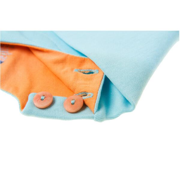 Chill n Feel - Baby-Pullover Anden-Kondor aus Bio-Pima-Baumwolle Eisblau Orange (1)