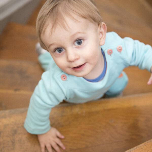 Chill n Feel - Baby-Pullover Anden-Kondor aus Bio-Pima-Baumwolle Eisblau Orange (7)