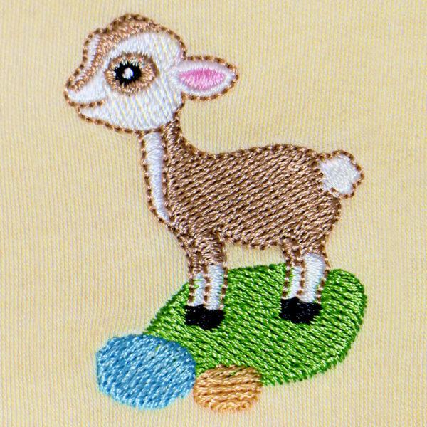 Chill n Feel - Baby Strampler Lama aus Pima Biobaumwolle Gestreift Beige (7)