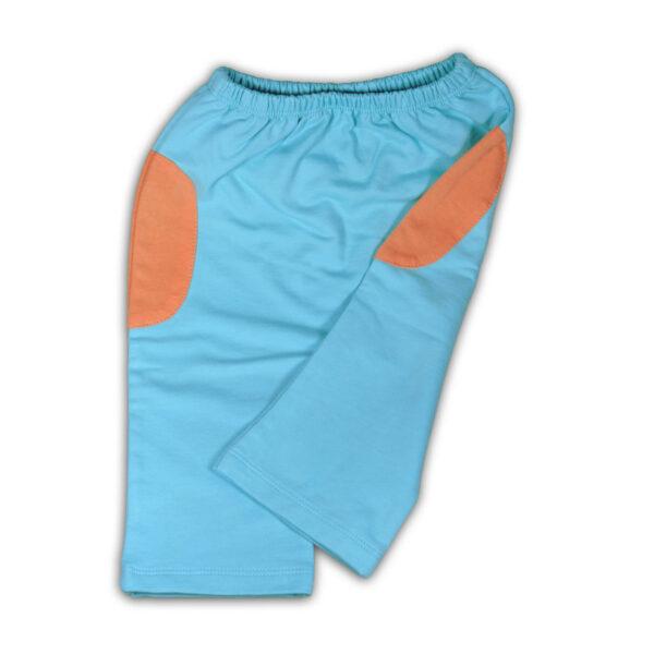 Chill n Feel - Luftige Babyhose aus feinster Pimabaumwolle kbA Eisblau Orange (1)