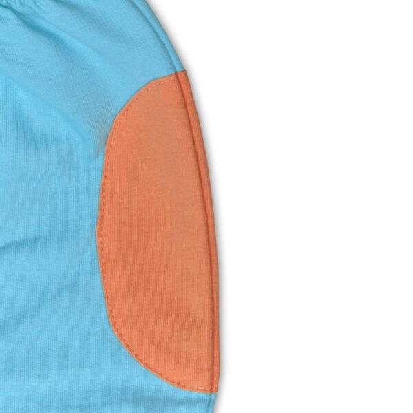 Chill n Feel - Luftige Babyhose aus feinster Pimabaumwolle kbA Eisblau Orange (2)