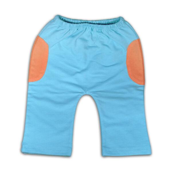 Chill n Feel - Luftige Babyhose aus feinster Pimabaumwolle kbA Eisblau Orange (3)