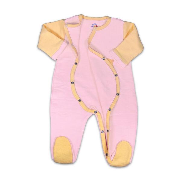 Chill n Feel - Warmer Baby-Schlafanzug Meerschweinchen aus Pima Biobaumwolle Rosé Orange (2)