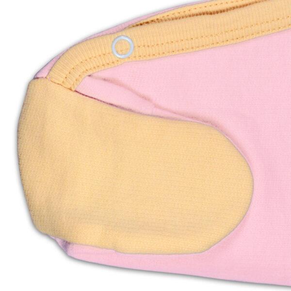 Chill n Feel - Warmer Baby-Schlafanzug Meerschweinchen aus Pima Biobaumwolle Rosé Orange (3)