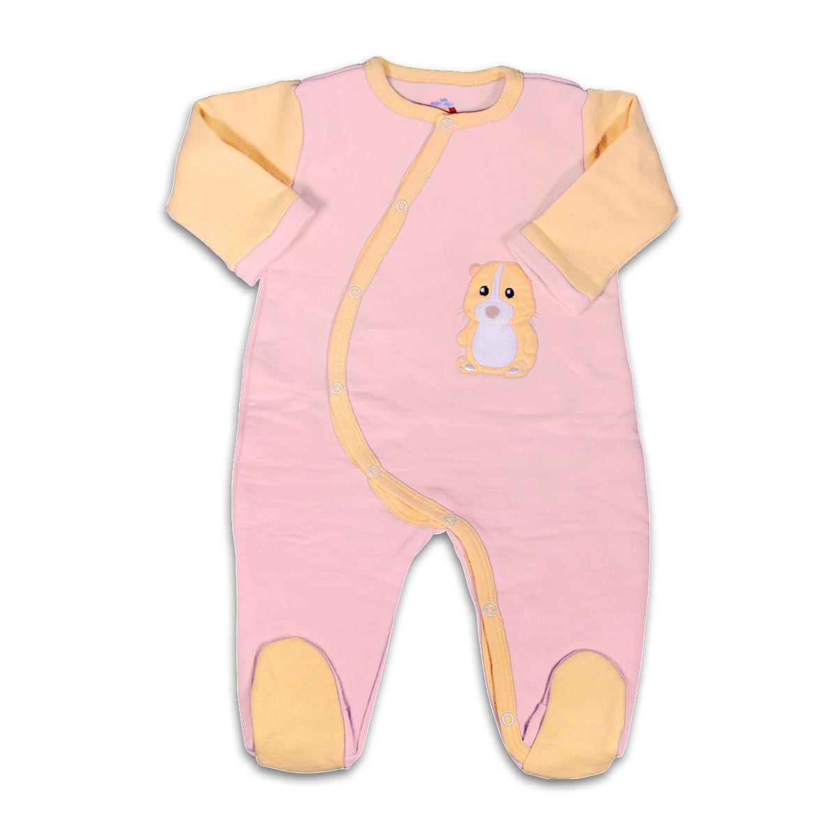 Chill n Feel - Warmer Baby-Schlafanzug Meerschweinchen aus Pima Biobaumwolle Rosé Orange (4)