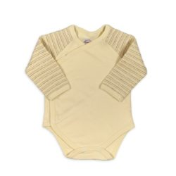 Wickelbody langarm für Neugeborene aus Pima Bio Baumwolle