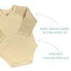 Wickelbody aus Bio Pima Baumwolle