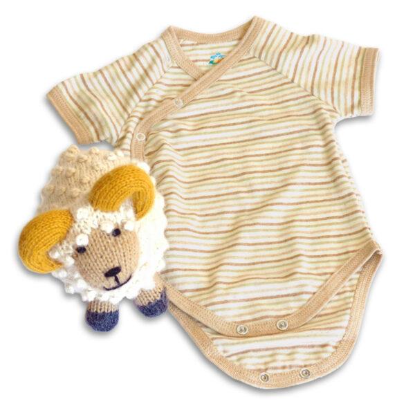 Chill n Feel - Baby Geschenkset Schafbock u. Bio Wickelbody aus Pima Baumwolle (2)