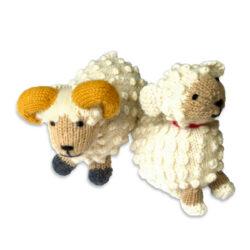 Chill n Feel - Kuscheltier Schaf u. Schafbock aus Alpaka Wolle (1)