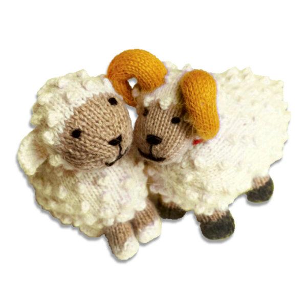 Chill n Feel - Kuscheltier Schaf u. Schafbock aus Alpaka Wolle (2)