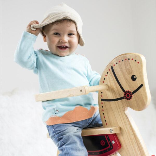 Chill n Feel - Baby-Mütze mit Ohrenschutz aus naturbelassener Biobaumwolle Beige Geringelt (4)