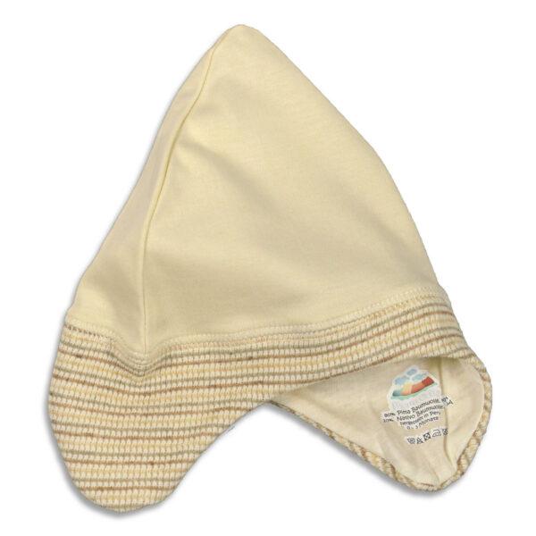 Chill n Feel - Baby Erstlingsmütze mit Ohrenschutz aus Pima Bio Baumwolle