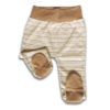Chill n Feel - Babyhose mit Fuß und Bauchbund aus naturfarbener Baumwolle Gestreift Braun (3)