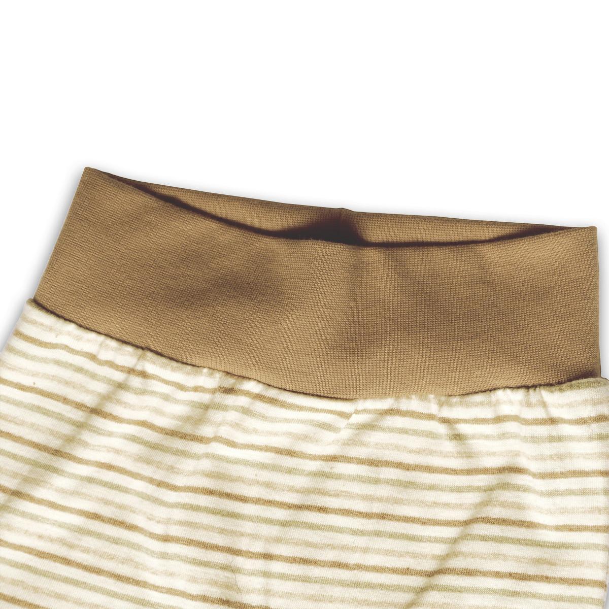 b51c8f95fc Babyhose mit Fuß aus naturfarbener Baumwolle | mama-ocllo.com