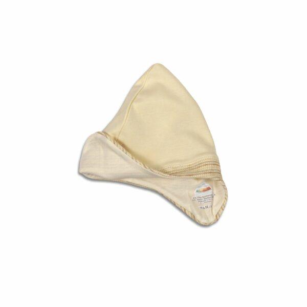 Babymütze mit Ohrenschutz aus BioBaumwolle Pima