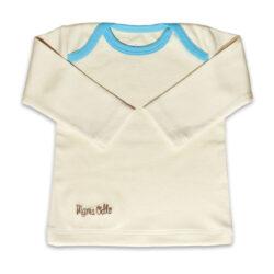 Chill n Feel - Langarm Baby-Schlupfhemd aus Bio Pima-Cotton Beige Eisblau (2)