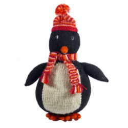 Chill n Feel - Fair Trade Stick-Kuscheltier Pinguin aus Alpaka Wolle (1)
