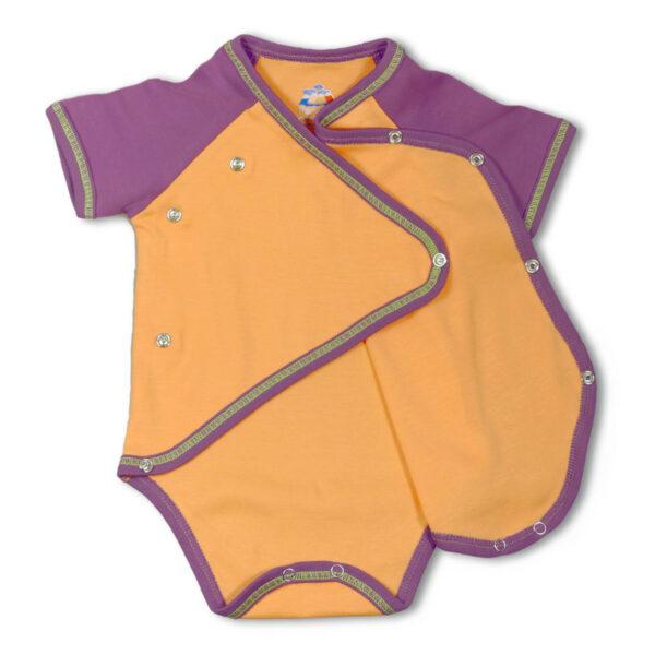 Chill n Feel - Kurzarm-Kimono Body aus Pima Bio-Baumwolle Orange Pflaume (6)