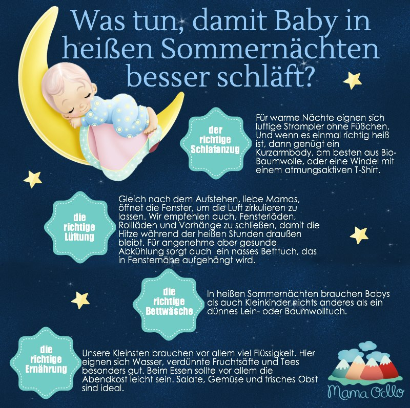 Heiße Sommernächte Baby Schlaf