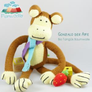 Kuscheltier aus Bio Baumwolle Fair Trade Affe