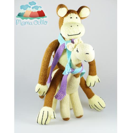 Kuscheltier aus Bio Baumwolle Fair Trade Affe u. Giraffe (2)