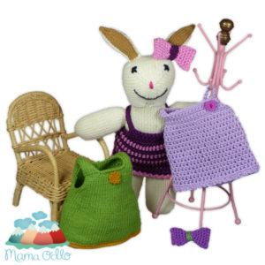 DIY Kleidung für Kuscheltier Mama Hase Häkelanleitung (5)
