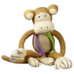 Bio Kuscheltier Affe mit langen Armen aus weicher Baumwolle